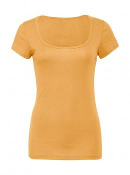 Leichtes Damen Shirt U-Boot-Ausschnitt / Bella 8703 M Orange Sorbet
