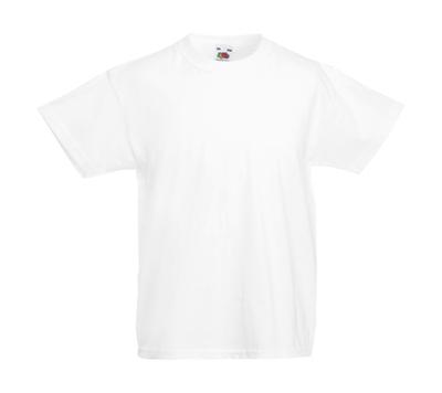 Original T Kids T-Shirt bis Gr.164 (14-15) / Fruit of the Loom 61-019-0 104 (3-4) White