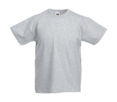 Original T Kids T-Shirt bis Gr.164 (14-15) / Fruit of the Loom 61-019-0 104 (3-4) Heather Grey
