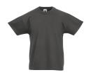Original T Kids T-Shirt bis Gr.164 (14-15) / Fruit of the Loom 61-019-0 104 (3-4) Light Graphite