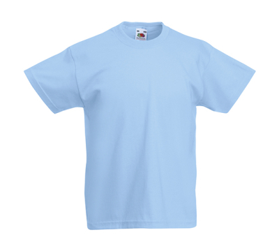 Original T Kids T-Shirt bis Gr.164 (14-15) / Fruit of the Loom 61-019-0 104 (3-4) Sky Blue