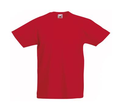 Original T Kids T-Shirt bis Gr.164 (14-15) / Fruit of the Loom 61-019-0 104 (3-4) Red