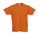 Original T Kids T-Shirt bis Gr.164 (14-15) / Fruit of the Loom 61-019-0 104 (3-4) Orange