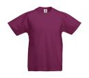 Original T Kids T-Shirt bis Gr.164 (14-15) / Fruit of the Loom 61-019-0 104 (3-4) Burgundy