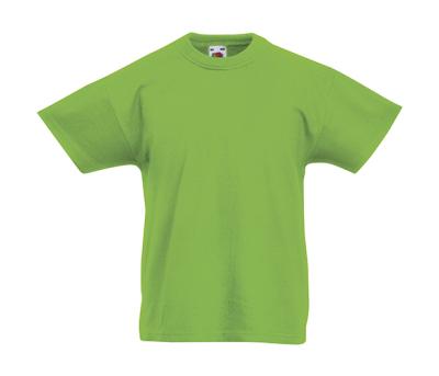 Original T Kids T-Shirt bis Gr.164 (14-15) / Fruit of the Loom 61-019-0 104 (3-4) Lime Green