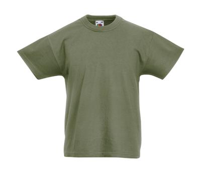 Original T Kids T-Shirt bis Gr.164 (14-15) / Fruit of the Loom 61-019-0 104 (3-4) Classic Olive