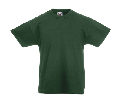 Original T Kids T-Shirt bis Gr.164 (14-15) / Fruit of the Loom 61-019-0 104 (3-4) Bottle Green