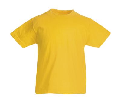 Original T Kids T-Shirt bis Gr.164 (14-15) / Fruit of the Loom 61-019-0 104 (3-4) Sunflower