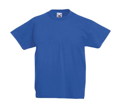 Original T Kids T-Shirt bis Gr.164 (14-15) / Fruit of the Loom 61-019-0 116 (5-6) Royal