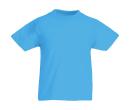 Original T Kids T-Shirt bis Gr.164 (14-15) / Fruit of the Loom 61-019-0 116 (5-6) Azure Blue