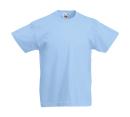 Original T Kids T-Shirt bis Gr.164 (14-15) / Fruit of the Loom 61-019-0 116 (5-6) Sky Blue