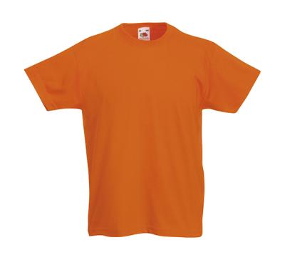 Original T Kids T-Shirt bis Gr.164 (14-15) / Fruit of the Loom 61-019-0 116 (5-6) Orange