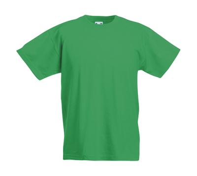 Original T Kids T-Shirt bis Gr.164 (14-15) / Fruit of the Loom 61-019-0 116 (5-6) Kelly Green