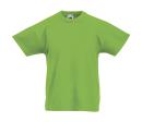 Original T Kids T-Shirt bis Gr.164 (14-15) / Fruit of the Loom 61-019-0 116 (5-6) Lime Green