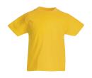 Original T Kids T-Shirt bis Gr.164 (14-15) / Fruit of the Loom 61-019-0 116 (5-6) Sunflower