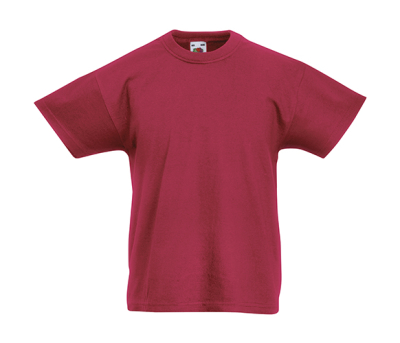 Original T Kids T-Shirt bis Gr.164 (14-15) / Fruit of the Loom 61-019-0 128 (7-8) Brick Red