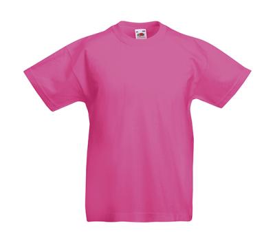 Original T Kids T-Shirt bis Gr.164 (14-15) / Fruit of the Loom 61-019-0 128 (7-8) Fuchsia