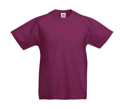 Original T Kids T-Shirt bis Gr.164 (14-15) / Fruit of the Loom 61-019-0 128 (7-8) Burgundy