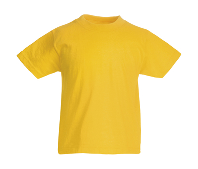 Original T Kids T-Shirt bis Gr.164 (14-15) / Fruit of the Loom 61-019-0 128 (7-8) Sunflower