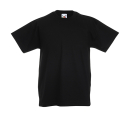 Original T Kids T-Shirt bis Gr.164 (14-15) / Fruit of the Loom 61-019-0 140 (9-11) Black