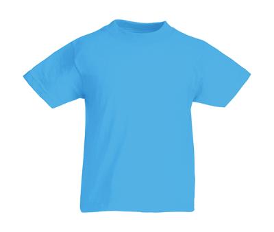 Original T Kids T-Shirt bis Gr.164 (14-15) / Fruit of the Loom 61-019-0 140 (9-11) Azure Blue