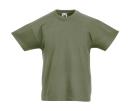 Original T Kids T-Shirt bis Gr.164 (14-15) / Fruit of the Loom 61-019-0 140 (9-11) Classic Olive