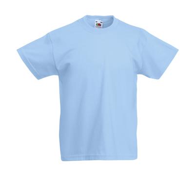 Original T Kids T-Shirt bis Gr.164 (14-15) / Fruit of the Loom 61-019-0 152 (12-13) Sky Blue