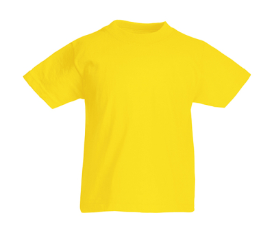 Original T Kids T-Shirt bis Gr.164 (14-15) / Fruit of the Loom 61-019-0 152 (12-13) Yellow