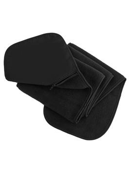 Fleece Schal mit Tasche - Result R100X 140x20cm Black