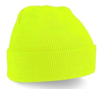 Original Cuffed Beanie Kids / Beechfield B45b One Size Fluorescent Yellow
