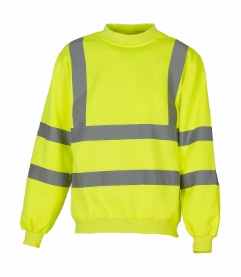 Sicherheits Sweatshirt bis Gr.3XL / Yoko HVJ510 L Hi Vis Yellow