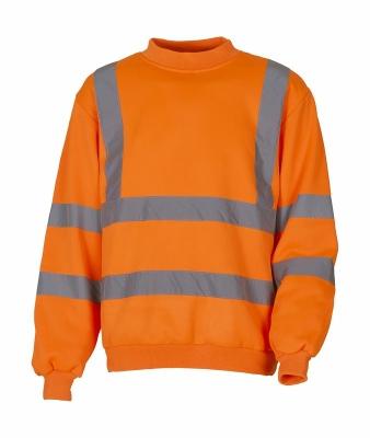Sicherheits Sweatshirt bis Gr.3XL / Yoko HVJ510 L Hi Vis Orange