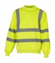 Sicherheits Sweatshirt bis Gr.3XL / Yoko HVJ510 2XL Hi Vis Yellow