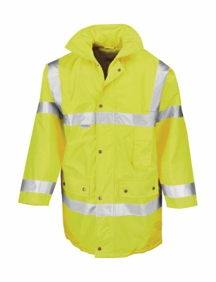 Sicherheitsjacke, Warnjacke wasserdicht m.Kapuze bis Gr.3XL /  Result R018X S Fluorescent Yellow