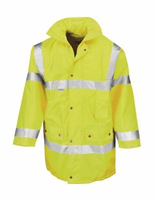 Sicherheitsjacke, Warnjacke wasserdicht m.Kapuze bis Gr.3XL /  Result R018X M Fluorescent Yellow