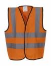 Kids Fluo 2 Band + Brace Waistcoat bis Gr.10-12 (L) / Yoko HVW100CH 4-6 (S) Fluo Orange