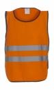 Fluo Kasack für Erwachsene bis Gr.L/XL / Yoko HVJ269 L/XL Fluo Orange