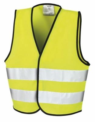 Kinder Sicherheitsweste bis Gr.L / Result R200J L (10-12) Fluorescent Yellow