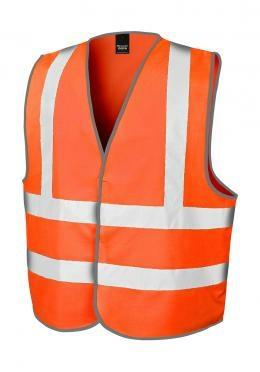 Sicherheitsweste Core Motorway Vest bis Gr.3XL / Result R201X 2-3XL Hi Vis Orange