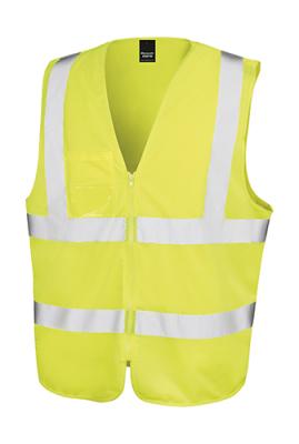 Core Zip Safety Tabard bis Gr.3XL / Result R202X L/XL Fluorescent Yellow