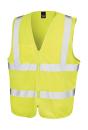 Core Zip Safety Tabard bis Gr.3XL / Result R202X 2-3XL Fluorescent Yellow