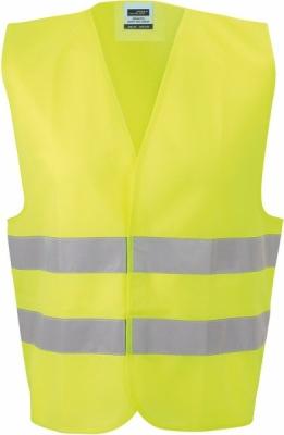Sicherheitsweste einfach mit Tasche bis Gr.2XL/ James&Nicholson JN200 S-2XL fluorescent-yellow