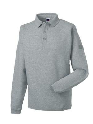 Herren Polo-Sweatshirt bis Gr.4XL / Russell 012M S Light Oxford