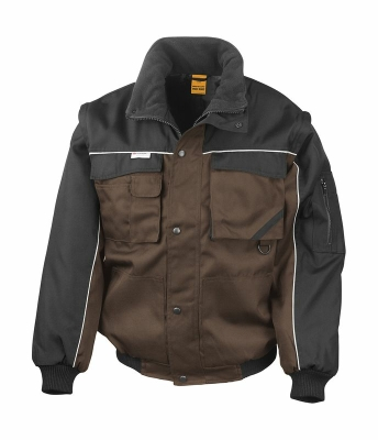 Heavy Duty Jacket bis Gr.3XL / Result R071X S Tan/Black