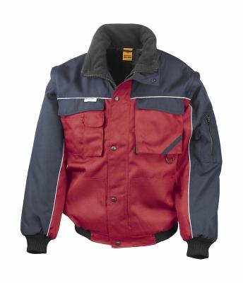 Heavy Duty Jacket bis Gr.3XL / Result R071X M Red/Navy