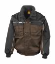 Heavy Duty Jacket bis Gr.3XL / Result R071X M Tan/Black