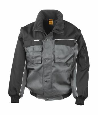 Heavy Duty Jacket bis Gr.3XL / Result R071X L Grey/Black