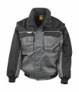 Heavy Duty Jacket bis Gr.3XL / Result R071X XL Grey/Black