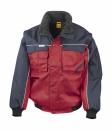 Heavy Duty Jacket bis Gr.3XL / Result R071X 3XL Red/Navy