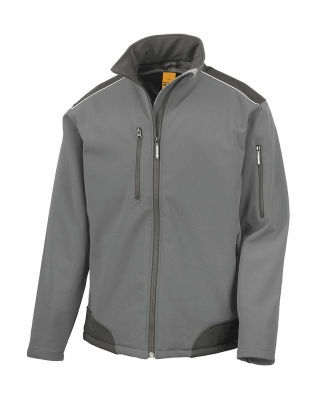 Softshell Arbeitsjacke bis Gr.4XL / Result R124X S Grey/Black